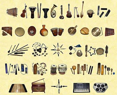 Selección de instrumentos del Mundo.